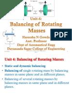 Unit 4 Balancingofrotatingmasses