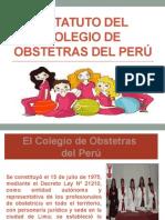 Estatuto Del Colegio de Obstetras Del Perú