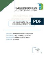 La Educación en La Comunidad Primitiva