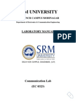 Communcation Lab Manual Electronics