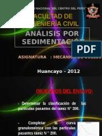MECANICA DE SUELOS-Analisis Por Sedimentacion