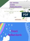 Bandingbeza Teori Behavioris Dan Teori Psikolinguistik
