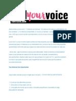 Lección 2 ESPAÑOL Find Your Voice 2015