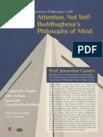 Buddhaghosa's philosophy of mind - poster