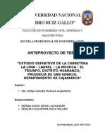 Anteproyecto - Carretera San Ignacio - Cajamarca