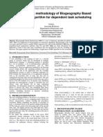 Implementation methodology of Biogeography Based Optimization algorithm for dependent task scheduling