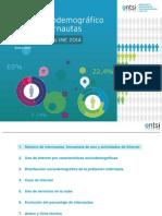 Perfil Sociodemografico de Los Internautas Datos Ine 2014