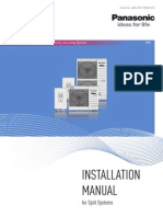 Aquarea Split Systems Installation Handbook 2013 (A2W-SPX-130305-012)