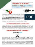 Formatos de Audio, Diferencias Ente Otros Formatos y Uso Correcto