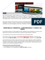 Formatos de Video, Diferencias Ente Otros Formatos y Uso Correcto