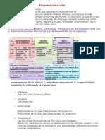 analisis Foda, matriz bcg, misison de cocacola