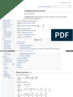 En Wikipedia Org Wiki List of Mathematical Series