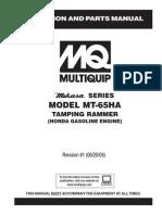 Manual mikasa Mt-65ha