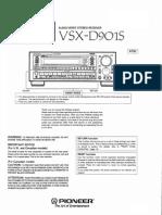 Manual Receiver Pioneer VSXD901S
