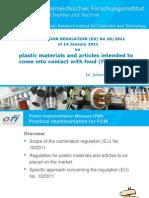 Regulation 10/2011  Johannes Bergmair - Ofi, Regulation 2011