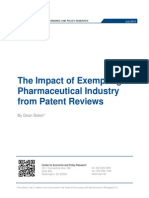 The Impact of Exempting the Pharmaceutical Industry from Patent Reviews