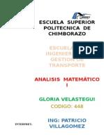 ANALSIS  MATEMATICO