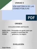 Unidad II Evolución Histórica de Las Relaciones Públicas