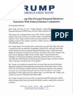 Donald Trump files personal financial disclosure statement with FEC