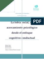 La Fobia Social, Un Acercamiento Psicológico Desde El Enfoque Cognitivo-conductual