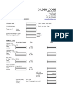 Web Booking Form