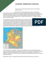 SERVICIOS DE TRANSPORTE TERRESTRE TURISTICO Colombia