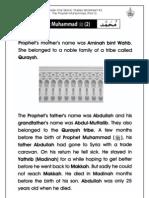 Grade 1 Islamic Studies - Worksheet 4.2 - Prophet Muhammad (Part 2)
