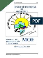 MOF 2013 Municipalidad provincial de coronel portillo