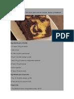 Budín Marmolado - de El Gran Libro de Las Tortas, Tartas y Budines