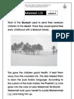 Grade 1 Islamic Studies - Worksheet 4.3 - Prophet Muhammad (Part 3)