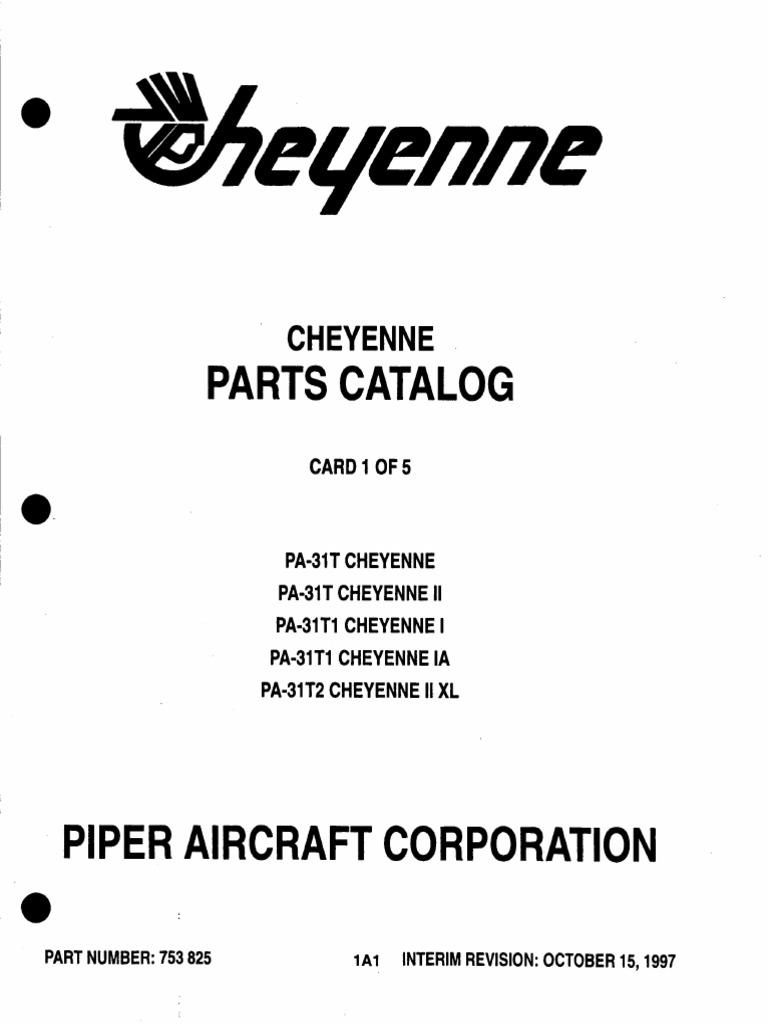 Parts Catalog: Cheyenne