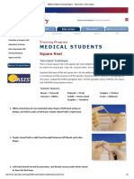 Medical Students Training Program - Square Knot - Penn Surgery
