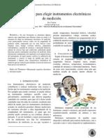 Características Para Elegir Instrumentos Electrónicos de Medición.