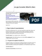 Trucos Para Mantener El Motor a Diesel