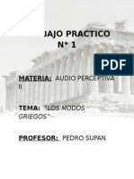 Audio Perceptiva Modos Griegos