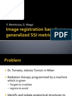 Image Registration based on a generalized SSI metric