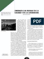 EMERGEN LAS RUINAS en LA Ciudad y en Al Literatura, José Carlos Rovira