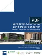 Vancouver Community Land Trust Case Study April 2015