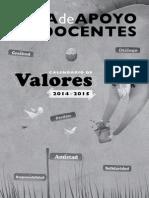 Guia de Apoyo Para Docentes VALORES 2014