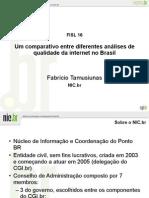 Um comparativo entre diferentes análises de qualidade da internet no Brasil