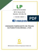 Laudo de Periculosidade - HWASHIN_Setor Eletrica - PitStop - REV. DOR 07-01-14