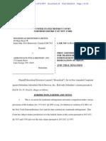 Moosehead Beer v. Moose Wizz Root Beer - Amended Trademark Complaint