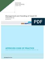 Hsnocop63 Management and Handling of Used Oil 438 Kb PDF