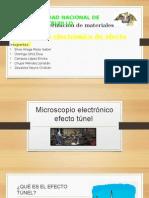 Microscopio Electrónico Efecto Túnel
