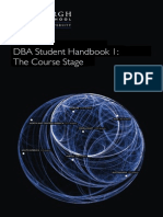 DBA Handbook Course Stage