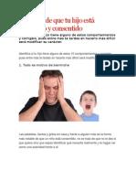 10 Signos de Que Tu Hijo Está Malcriado y Consentido