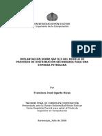 Implantación Sobre SAP R3 Del Modulo de Procesos de Distribución Secundaria Para Una Empresa Petrolera
