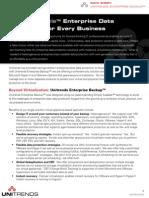 Unitrends Enterprise Backup Datasheet