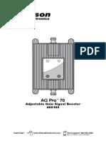 Wilson 460105 AG Pro 70 Installation Manual
