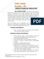 Allowable Deduction by Industry